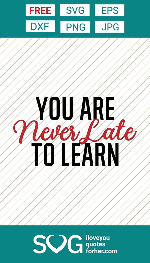 You Are Never Late to Learn SVG Cut Files