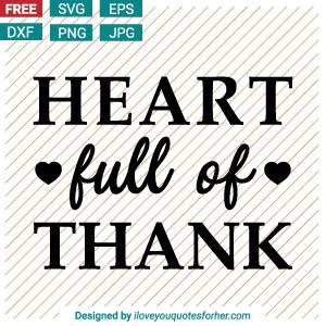 Heart Full of Thank SVG Cut Files