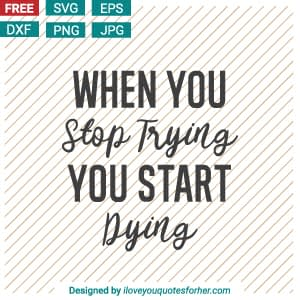 010-when-you-stop-trying-you-start-dying-svg-cut-files-free-download-motivation